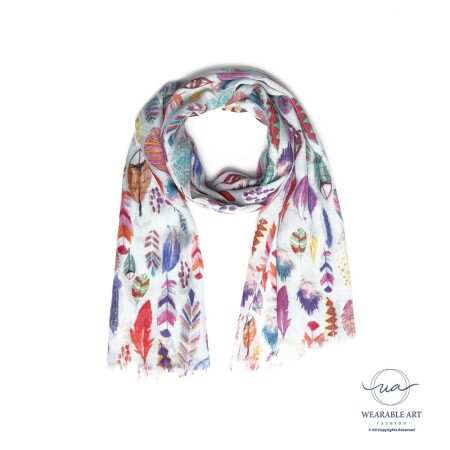 Freedom Feathers Cotton Modal Scarf