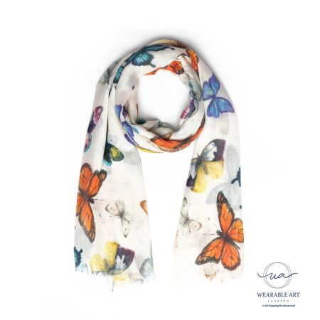 The Flight Of The Butterflies Cotton Modal Scarf
