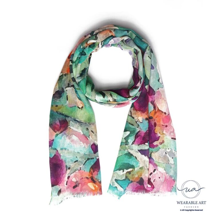 Tropical Orchids Cotton Modal Scarf